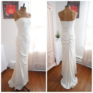 🆕Nicole Miller Mermaid Wedding Dress Silk Crepe